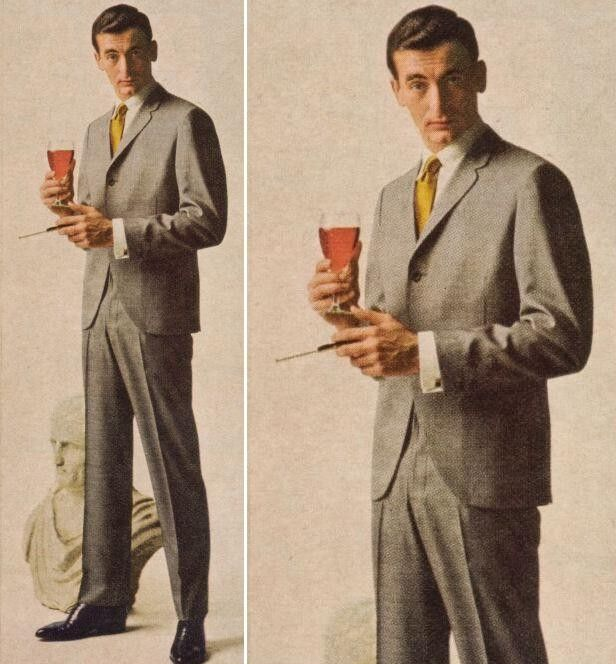 1960s Mens Colorful Suits College no.9 tight trousers: italian styling ...