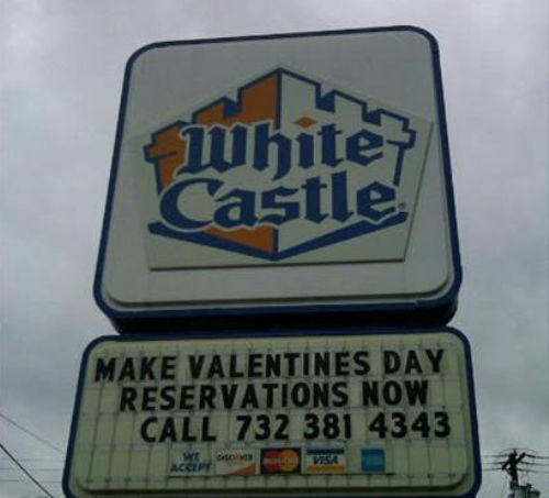 IT DOES EXIST!! Number one thing on my bucket list, i want a guy to take me to white castle for valentines day