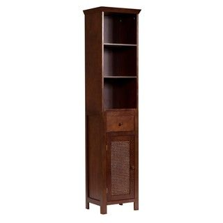 @Overstock - This Jasper linen tower is a casual and sophisticated bath cabinet that features hand-woven cane panels and a one-door storage compartment.  This cabinet is a great option for any bathroom.http://www.overstock.com/Home-Garden/Jasper-Linen-Tower/4310724/product.html?CID=214117 $107.60: Add Extra, Jasper Linens, Extra Storage, Espresso Finish, Linens Cabinets, Linens Towers, Doors Storage, Canes Linens, Bathroom Cabinets