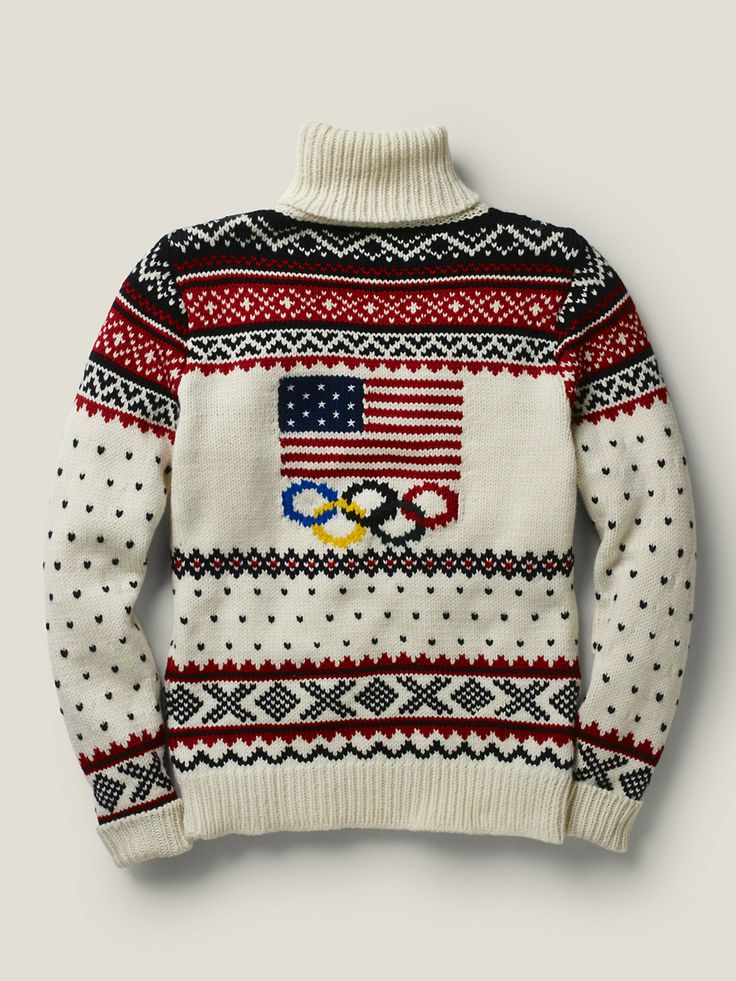 Four years — truly a lifetime — ago, the Ralph Lauren Team USA sweater was designed to be worn, it appears, in lieu of a parka. And of course it was, it was a masterpiece. The Winter Olympic collection, specifically it's centerpiece sweater, was astoundingly ugly.