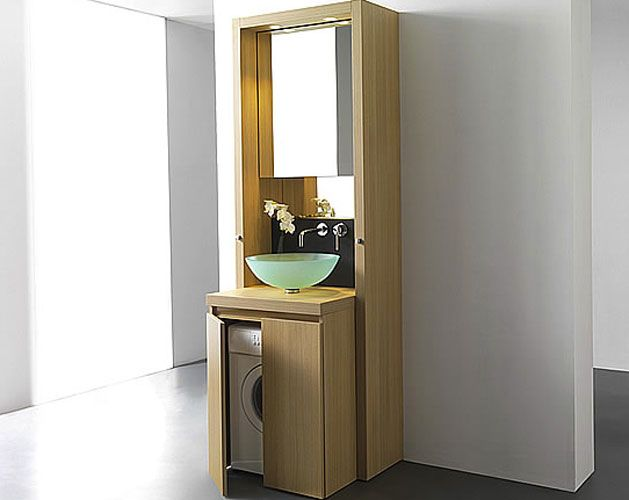 un meuble bain astucieux pour cacher le lave linge meuble salle de bain salle de bains et salle. Black Bedroom Furniture Sets. Home Design Ideas