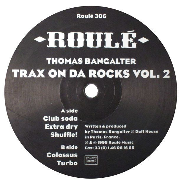 "Thomas Bangalter: Trax On Da Rocks Vol 2. (Daft Punk) 12"" – TurntableLab.com"