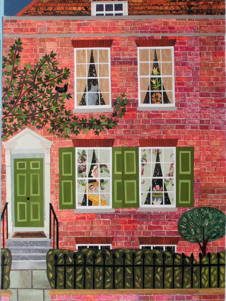 This is a beautiful work by Amanda White. She loves naive art as it combines her love of pattern & paint
