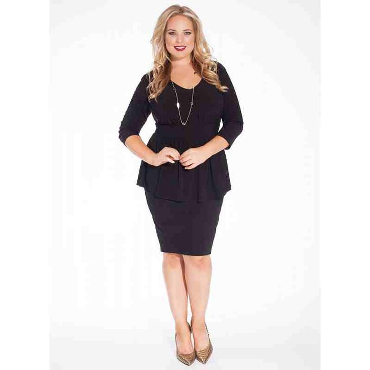 PRE-ORDER - Kloey Plus Size Top in Black $100.00 http://www.curvyclothing.com.au/index.php?route=product/product&path=95_96&product_id=8536