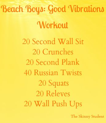 I Don't Go to the Gym: Beach Boys: Good Vibrations Workout by The Skinny Student!: