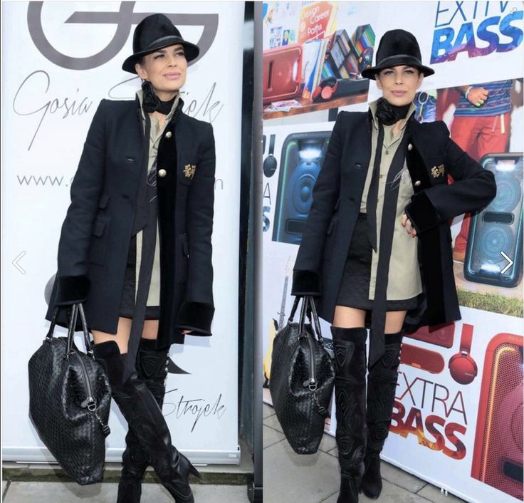 Gosia Strojek Pressday 2016 #coat -#Balmain #shirt, #skirt- #PINKO #shoes - #ISABEL #MARANT #scarf -#ZARA