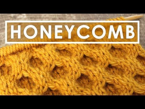 HONEYCOMB CABLE Knit Stitch Pattern ❥ Corrected! - YouTube