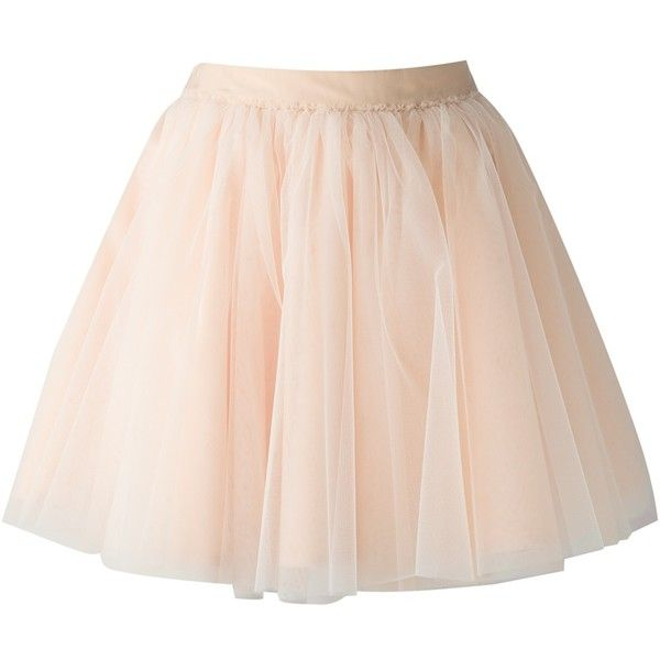 MOSCHINO flared tulle skirt found on Polyvore