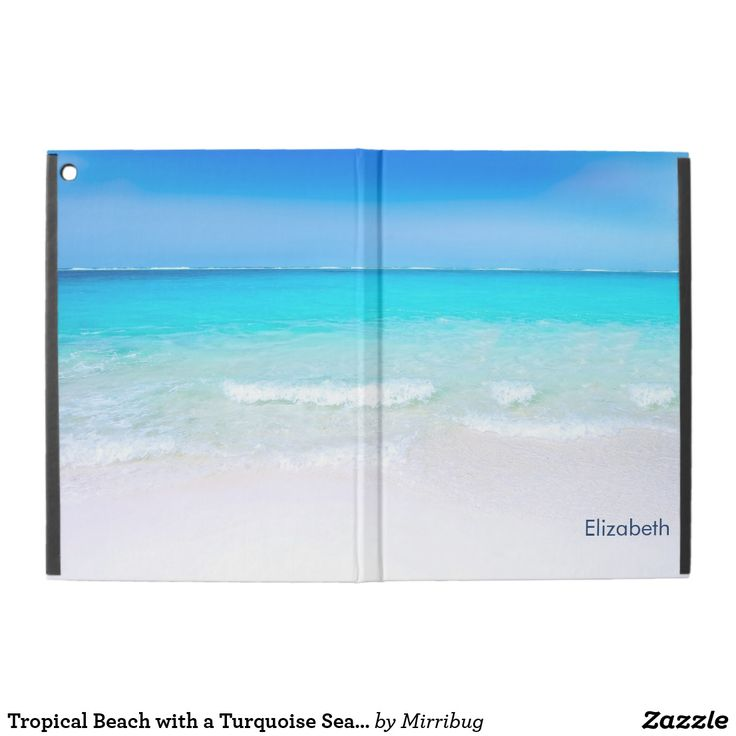 Tropical Beach with a Turquoise Sea Custom iPad Pro Case