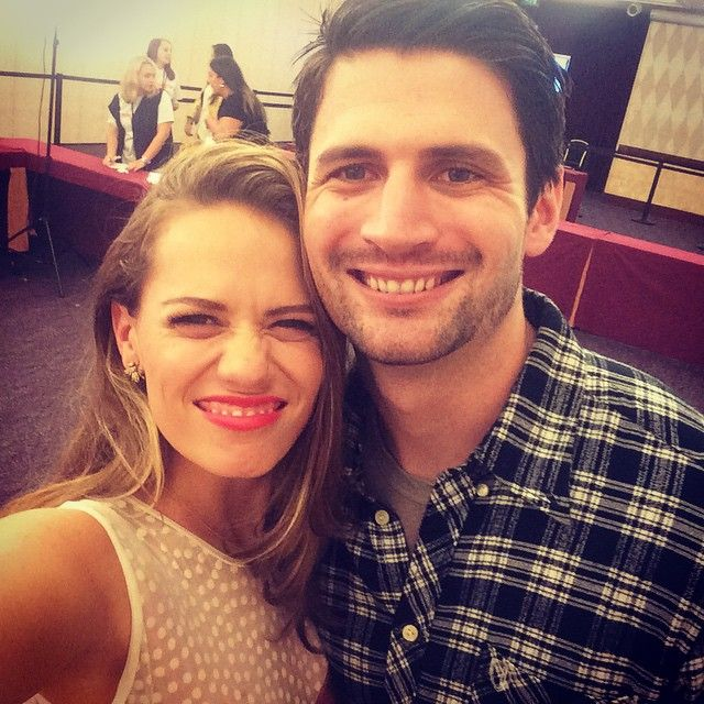 "Bethany Joy Lenz with ""this handsome buggar"" James Lafferty in Paris 10/18/2014!"