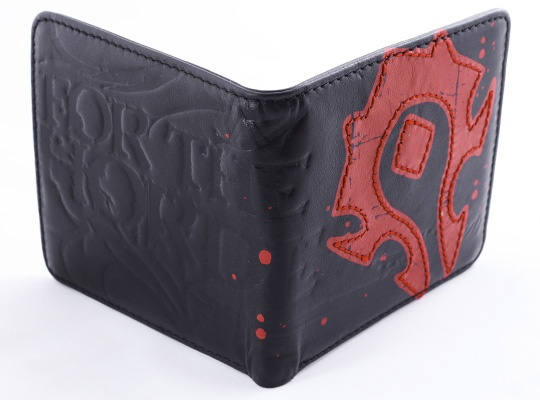 World of Warcraft Horde Crest Leather Wallet...my husband carries this wallet.