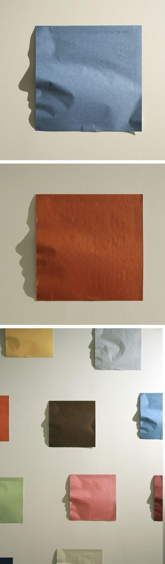 Origami Shadow Art der tatsächlichen Gesichter