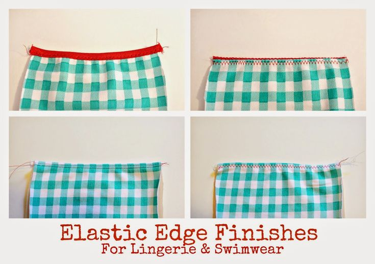 In my patterns, I generally glance over how to apply elastic edge finishes.  There are so many different types of elastic, and different ...