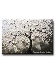 Resultado de imagen para dark red and cream blossoms canvas wall art