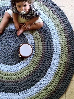 Alfombra de ganchillo redondas alfombra colorida por OmaniStudio