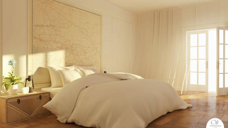 #MasterBedroom 3D E-Design by Oli Interior Design Online Studio #vintagebedroom #bedroomstyling