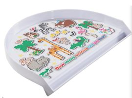 NEW Animal Jungle Toddler Tray design - how many monkeys can you find?
