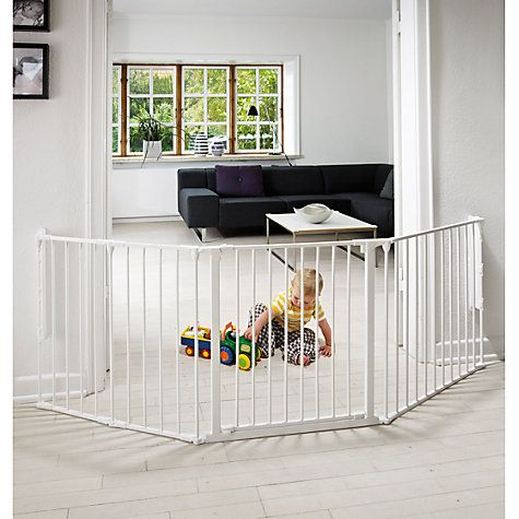 Buy BabyDan Configure Large Baby Gate, White Online at johnlewis.com - maybe this is adjustable