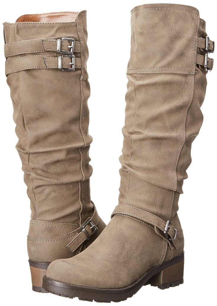 Amazon.com: White Mountain Women's Block Engineer Boot: Shoes