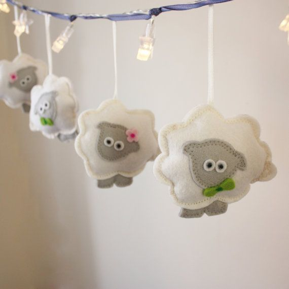 Hello we are the Counting Sheep fairy lights and make beautiful spring decor for any room in the house. We look fantastic in a modern nursery and