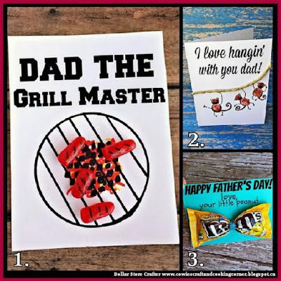 Dollar Store Crafter: 3 Creative Father's Day Cards For The Kids To Make