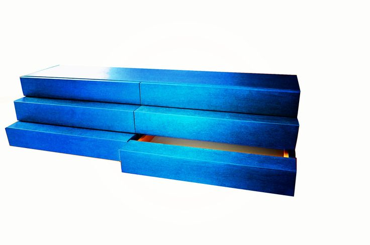 """Jewelry box """"NARCISO"""", consisting of six drawers. Ideal as a jewellery box or tray. Wood can be treated with custom colours and dyes too or  be painted with colors chosen by RAL or NCS folders or your reference champion. Dimensions: 119 cm x 44 cm x 29 cm h. Follow us on Facebook for more details."""