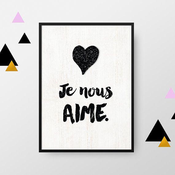 Affiche A4 : Je nous aime