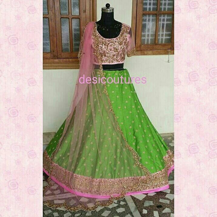 Beautiful lehenga for mehendi function customized for our gorgeous client from austria