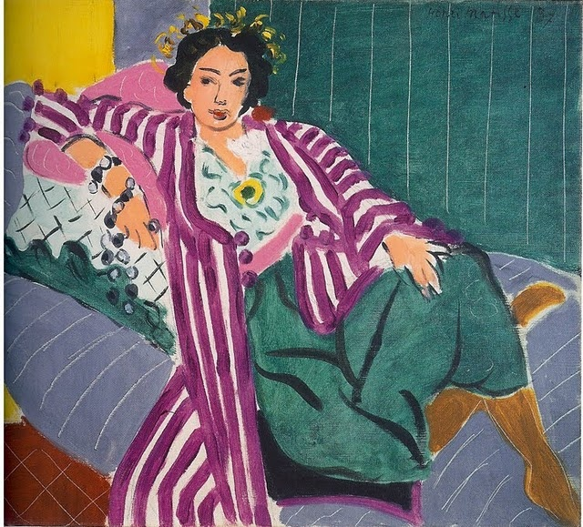 SMALL ODALISQUE IN A PURPLE ROBE