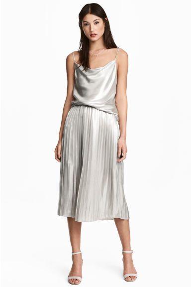 Falda plisada - Plateado - MUJER | H&M ES 1
