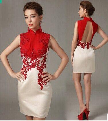 2014 sommar nya retro mode klänning brudklänning
