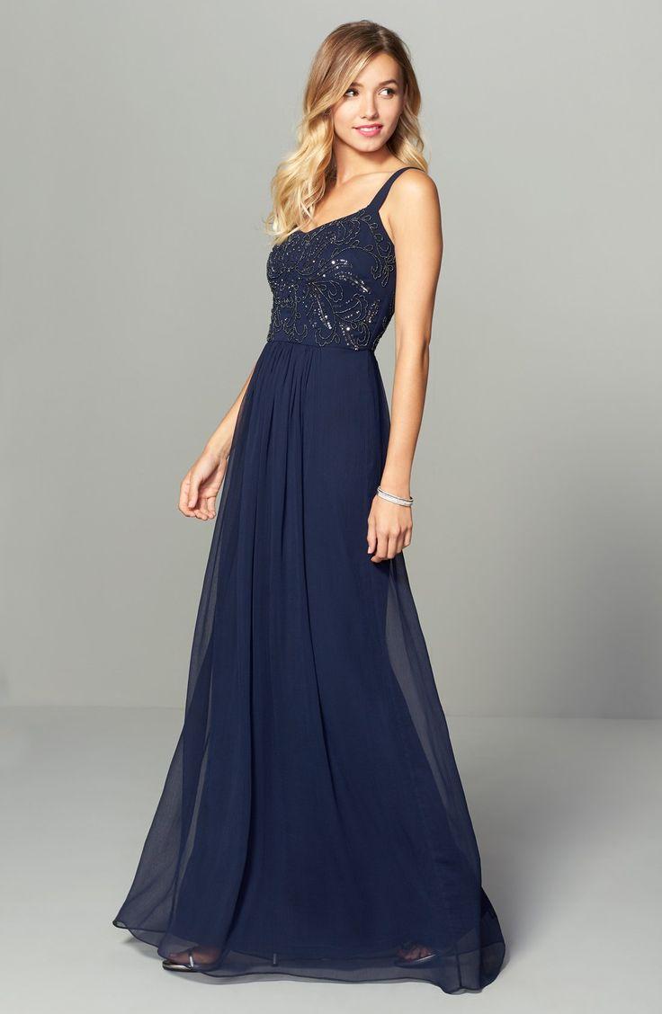 Best 10+ Long navy bridesmaid dresses ideas on Pinterest   Navy ...