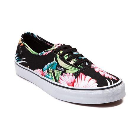 vans floral shoes