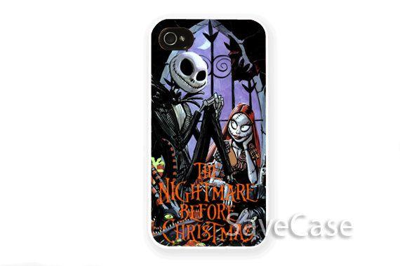 The Nightmare Before Christmas Jack & Sally - iPhone Case - iPhone 4 iPhone 4s - iphone 5 - Samsung S3 - Samsung S4