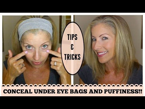 Look Younger! How to Conceal Under Eye Bags and Discoloration for Mature Skin - YouTube
