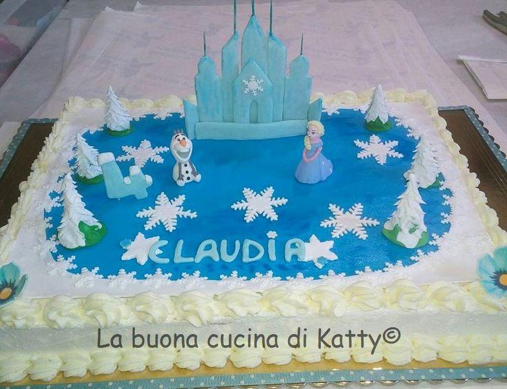 La buona cucina di Katty: Torta lago ghiacciato di Frozen - Cake frozen lake