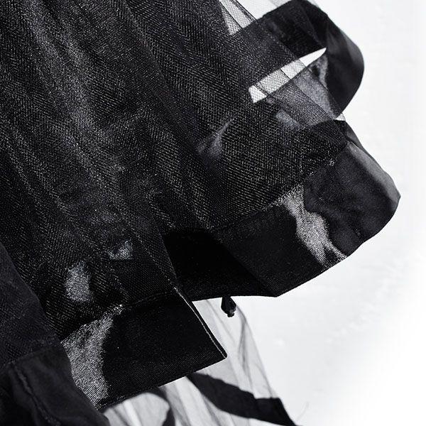 Vacodo Women Sexy Crystal Beads Black Dovetail Cake Skirt Plus Size Corset Dresses at Banggood