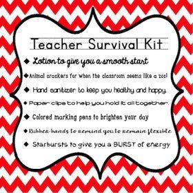 Teachingisagift: New Teacher Survival Kit