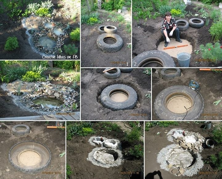 bassin de jardin dans un pneu (tuto gratuit DIY)  tutolibre