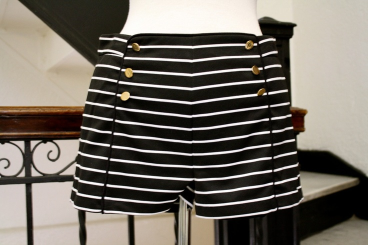 Salior Nautical Highwaisted shorts Black and by HarmonyWalker, $44.50