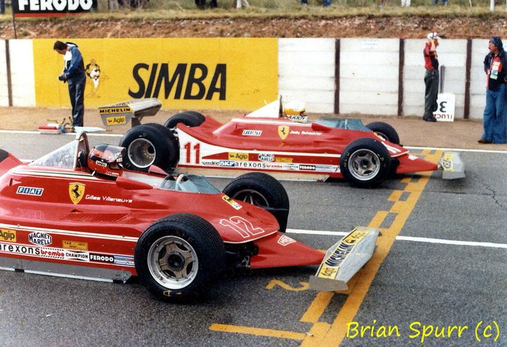 Kyalami 79. Gilles on wets Jody on dries. (Gilles won). So much for local knowledge!