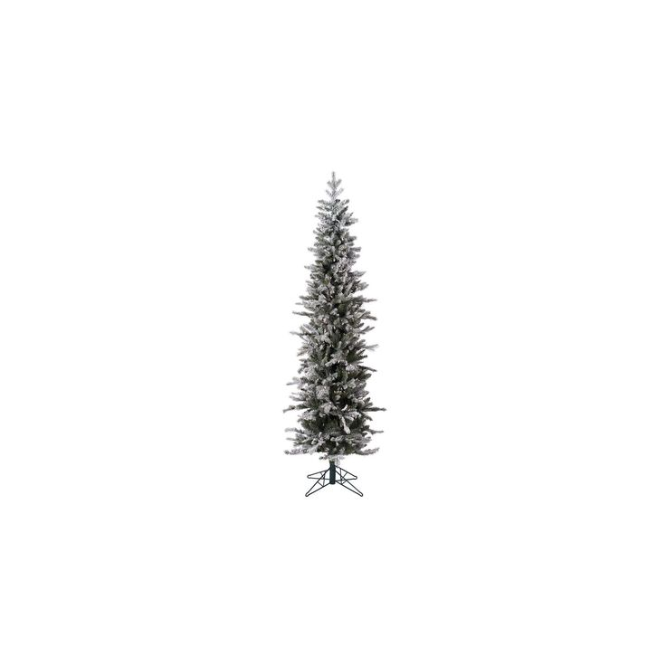 7ft Pre-Lit Artificial Christmas Tree Frosted Glitter Tannenbaum Pine - with 300 Warm White Led Lights, Green