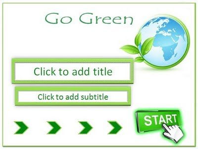 Let us support Go Green movement. This template is suitable for your presentation on the theme of the environment, Go Green, reforestation, Save the Earth, and other environmental care movement. This template is simple and green nature template, Go Green background, special background for title slide, 2 different background, default and standard font, custom title text with wordart style, hyperlink (action button), etc.
