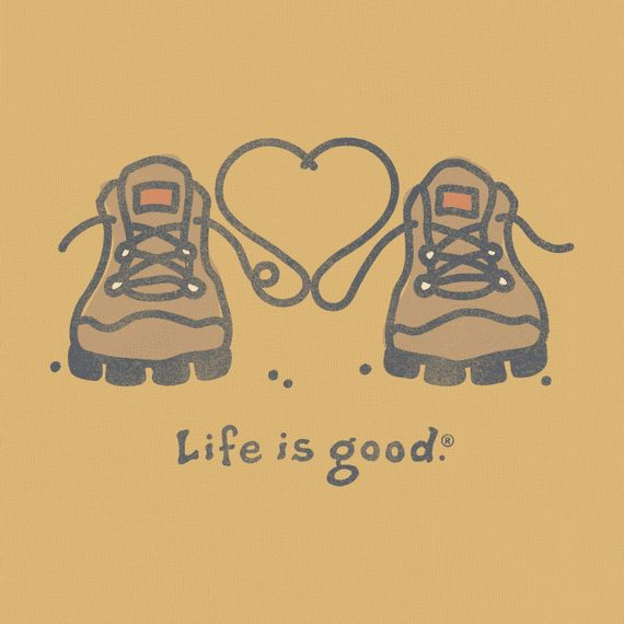 Women's Hiking Boots Heart Crusher Tee|Life is good