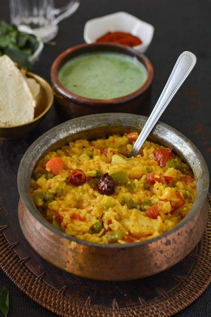 vaghareli khichdi - Rice ,lentil and vegetable porridge, a very healthy and delicious one pot meal from Gujarati Cuisine.