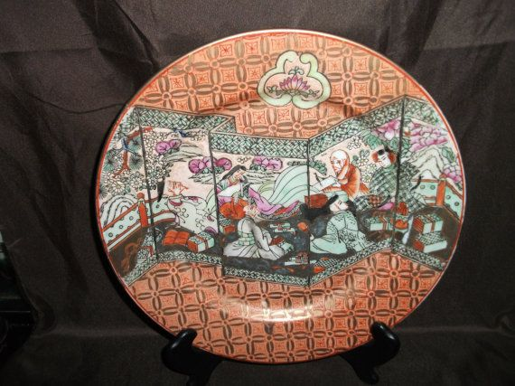 A superb finely painted asian charger plate post by artiques71