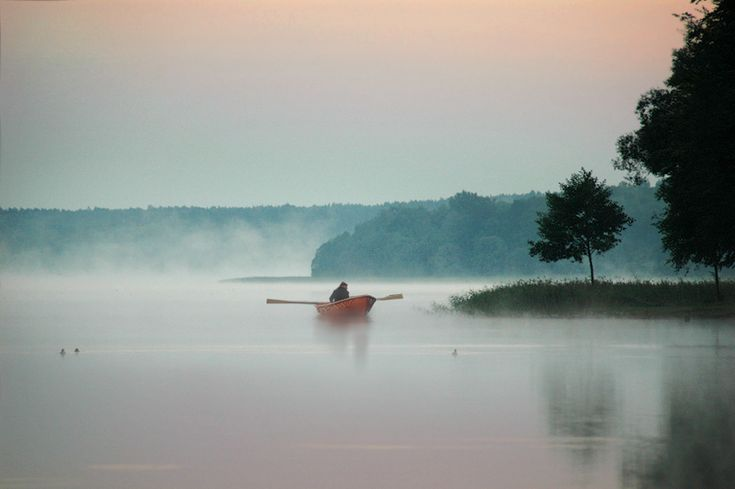 Early morning - Cieszyno, Zachodniopomorskie    The Lake Siecino located in the Drawskie Lakeland in northwest Poland.   No motor boats allowed.  Love it!