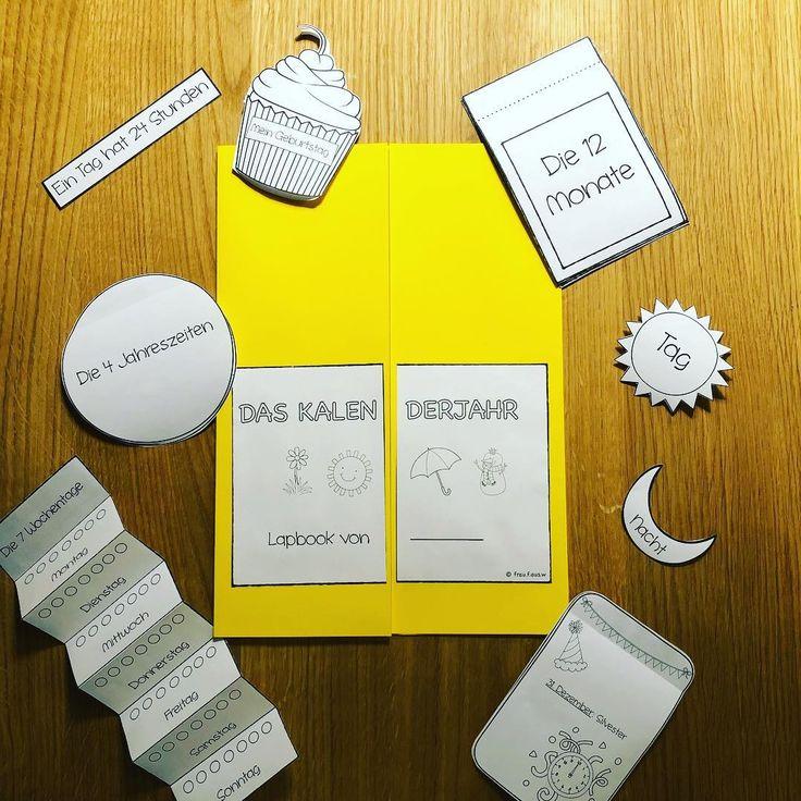 Lapbook - Das Kalenderjahr  Lernheft, Uhrzeit grundschule