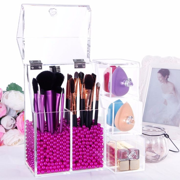 5mm Thick Makeup Acrylic Organizer Cosmetic Storage