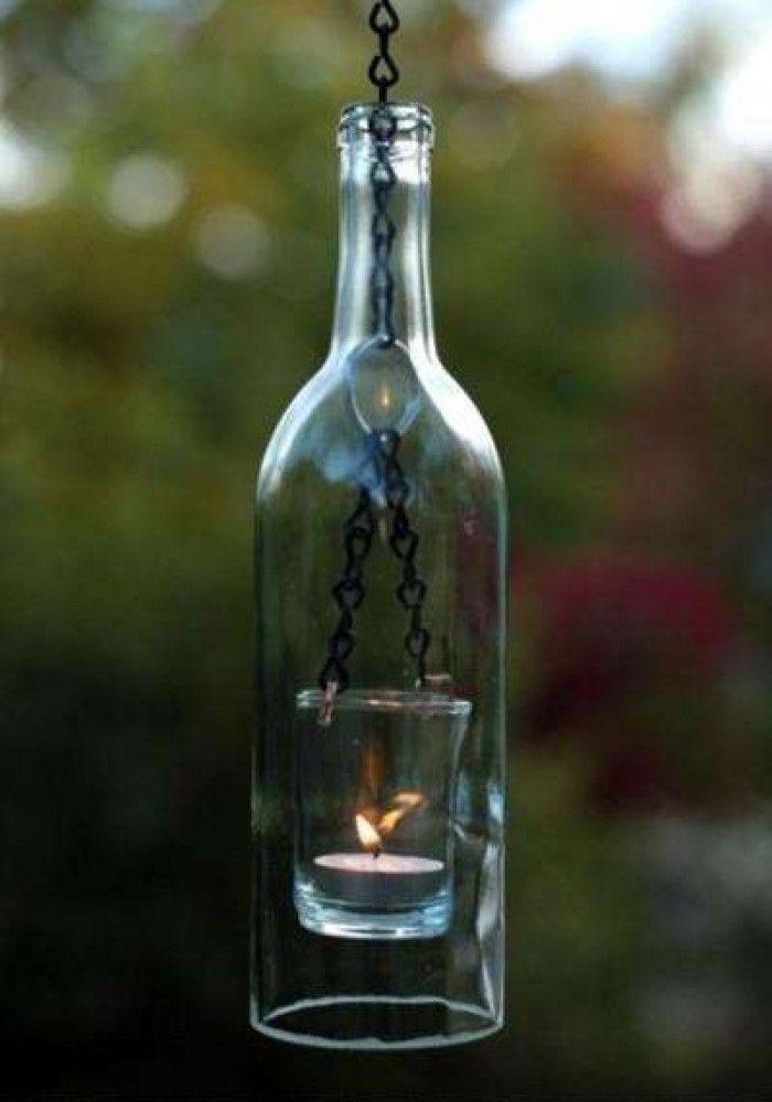 Super leuk  lampion ( van een fles ).